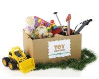 Brinquedos da caridade para o Natal Fotografia de Stock
