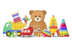 Brinquedos das crianças ajustados Fotografia de Stock Royalty Free