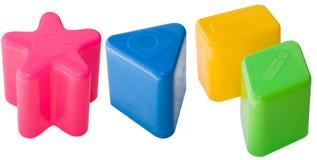 Brinquedos das crianças isolados Imagens de Stock