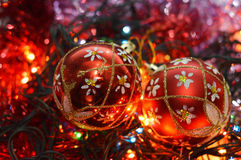 Brinquedos de ano novo Fotos de Stock Royalty Free