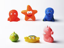 Brinquedos de borracha Imagem de Stock Royalty Free