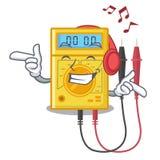 Brinquedos de escuta do multímetro digital da música na forma dos desenhos animados ilustração stock
