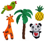 Brinquedos de feltro Fotografia de Stock Royalty Free