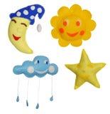 Brinquedos de feltro Imagens de Stock