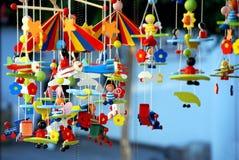 Brinquedos de madeira Fotos de Stock Royalty Free