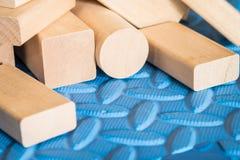Brinquedos de madeira imagens de stock
