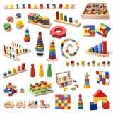 Brinquedos de madeira coloridos dos grânulos Imagens de Stock