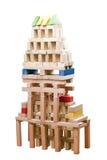 Brinquedos de madeira do bloco Foto de Stock Royalty Free