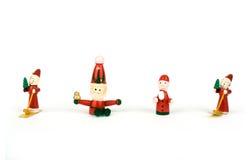 Brinquedos de madeira do Natal Imagens de Stock