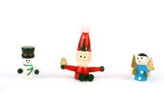 Brinquedos de madeira do Natal Foto de Stock Royalty Free