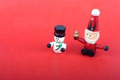 Brinquedos de madeira do Natal Fotos de Stock Royalty Free