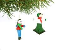 Brinquedos de madeira do Natal Imagens de Stock Royalty Free
