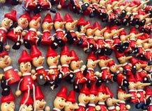 Brinquedos de Pinocchio fotografia de stock