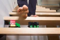 Brinquedos deixados em etapas Fotos de Stock Royalty Free