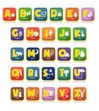 Brinquedos do alfabeto Fotografia de Stock