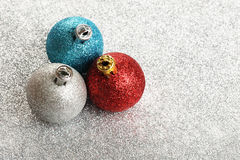 Brinquedos do ano novo ou do Natal Fotografia de Stock