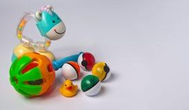 Brinquedos do bebê fotografia de stock