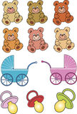 Brinquedos do bebê Fotografia de Stock Royalty Free