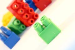 Brinquedos do bloco Fotos de Stock Royalty Free