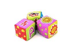 Brinquedos do bloco de matéria têxtil Foto de Stock