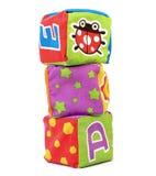 Brinquedos do bloco de matéria têxtil Fotografia de Stock Royalty Free