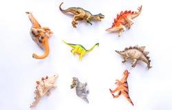 Brinquedos do dinossauro imagens de stock