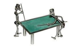 Brinquedos do ferro dos jogadores de bilhar   Imagem de Stock Royalty Free