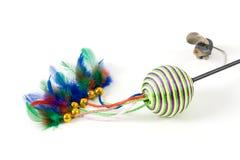 Brinquedos do gato Fotos de Stock