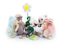 Brinquedos do luxuoso em torno da flor Imagem de Stock Royalty Free