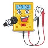 Brinquedos do multímetro digital do canto na forma dos desenhos animados ilustração royalty free