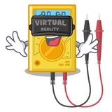 Brinquedos do multímetro digital de realidade virtual na forma dos desenhos animados ilustração royalty free