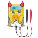Brinquedos do multímetro digital do diabo na forma dos desenhos animados ilustração stock