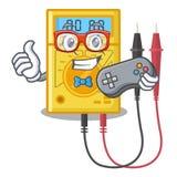 Brinquedos do multímetro digital do Gamer na forma dos desenhos animados ilustração do vetor