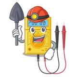 Brinquedos do multímetro digital do mineiro na forma dos desenhos animados ilustração stock