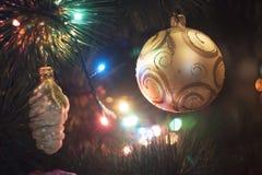 Brinquedos do Natal Fotografia de Stock Royalty Free