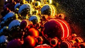 Brinquedos do Natal, bolas, árvore de Natal Ano novo feliz imagem de stock