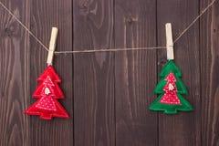 Brinquedos do Natal com suas próprias mãos Foto de Stock