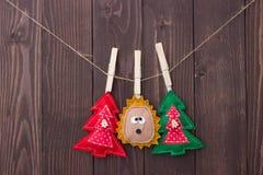 Brinquedos do Natal com suas próprias mãos Foto de Stock Royalty Free