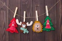 Brinquedos do Natal com suas próprias mãos Fotos de Stock