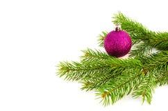 Brinquedos do Natal e de árvore do Natal ramo Imagem de Stock