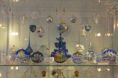Brinquedos do Natal em um tema religioso Fotos de Stock Royalty Free