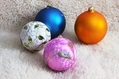 Brinquedos do Natal Fundo do Natal imagens de stock