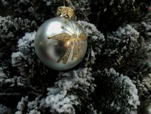 Brinquedos do Natal na árvore de Natal Imagens de Stock