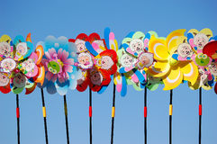 Brinquedos do Pinwheel fotografia de stock