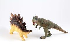 Brinquedos do plástico dos dinossauros Imagem de Stock Royalty Free
