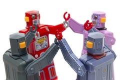 Brinquedos do robô da lata do vintage Fotografia de Stock Royalty Free