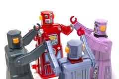 Brinquedos do robô da lata do vintage Foto de Stock