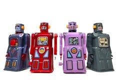 Brinquedos do robô da lata do vintage Fotografia de Stock