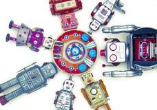 Brinquedos do robô Fotografia de Stock Royalty Free