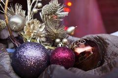 Brinquedos do ` s do ano novo Fotos de Stock Royalty Free